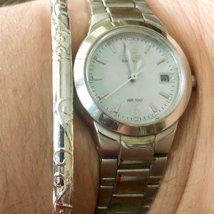 Jewelry - 3 for $20 Silver Carved Bangle Boho Bracelet New
